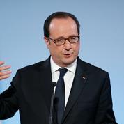 Bouffes[bouf'] Scène de la comédie politique jouée par Hollande