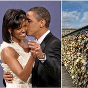 Un couple de Parisiens croit avoir retrouvé le cadenas d'amour de Michelle et Barack Obama