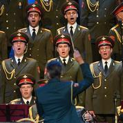 Premier concert des Chœurs de l'Armée Rouge après la tragédie de noël dernier