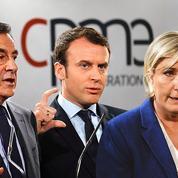 L'opération séduction des PME de Fillon, Le Pen et Macron