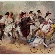 En 1892, les vélocipédistes envahissent le Champs-de-Mars