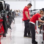 Tesla tancé pour le nombre de ses accidents du travail