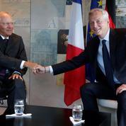 Le Maire et Schäuble avancent sur l'Europe