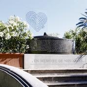 Attentat de Nice: un monument temporaire à la mémoire des victimes