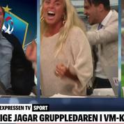 L'euphorie des journalistes suédois après le but de Toivonen