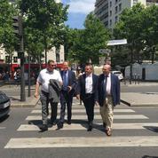 En campagne à Paris, Bertrand exhorte Macron à hausser le ton contre Bayrou