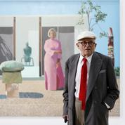 David Hockney, portrait de l'artiste à l'œuvre