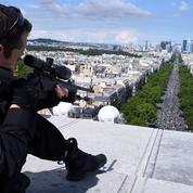 14 Juillet : sécurisation maximale depuis les rues jusqu'au ciel de Paris