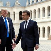 La journée d'Emmanuel Macron et Donald Trump à Paris
