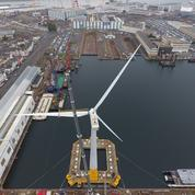 Inauguration d'une éolienne flottante à Saint-Nazaire
