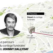 Hommage à Johnny Hallyday : sur le parcours du cortège, certains ont passé la nuit dehors