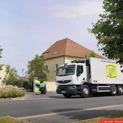 Les camions roulant au gaz tracent la route