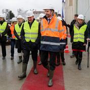 Edouard Philippe, en visite sur le chantier du métro du Grand Paris