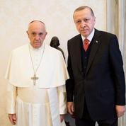 François offre un symbole de paix au président Erdogan