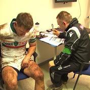 Rugby : les images inédites d'un «protocole commotion cérébrale»