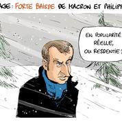 Le dessin d'Ixène : «Coup de froid sur la courbe»