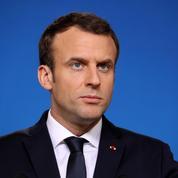Emmanuel Macron en visite à la prison de Fresnes