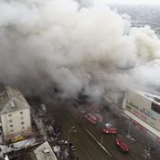 Russie : 64 morts dans l'incendie d'un centre commercial