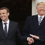 Macron et Trump se livrent à la diplomatie de la table