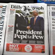 Macron dépeint en «Pépé le putois» dans la presse australienne