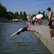 Retour de la baignade dans le bassin de la Villette