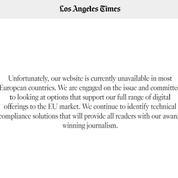 Protection des données : des médias américains coupent l'accès à leurs sites aux Européens