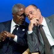 Nombreux hommages en France à la mort de Kofi Annan, un «ami fidèle de Jacques Chirac»