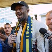 L'arrivée remarquée d'Usain Bolt en Australie pour un essai avec un club de football