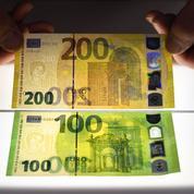 Voici les nouveaux billets de 100 et 200 euros