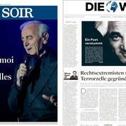 Charles Aznavour, le «Frank Sinatra français» salué par toute la presse internationale