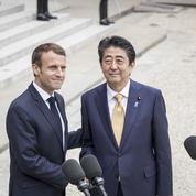 Shinzo Abe et Emmanuel Macron, des alliés que tout oppose
