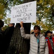 Donald Trump chahuté par des manifestants lors de sa visite à Pittsburgh