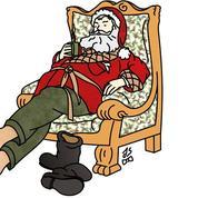 Dans le vestiaire du Père Noël