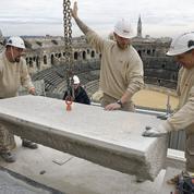 Le chantier colossal des arènes de Nîmes