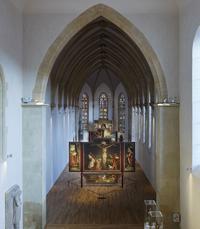 Vue de la chapelle, Grünewald et Nicolas de Haguenau, Retable d'Issenheim, 1512-1516, Musée Unterlinden.