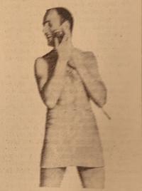 Avec le «Sixtant Braun», on a en prime la tenue de rasage. Illustration parue dans <i>Le Figaro</i> du 13 juin 1968.