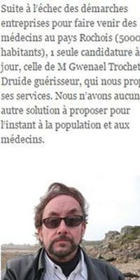 Sur son site, la mairie dit laisser sa chance à M. Trochet, «en attendant l'arrivée d'un médecin»