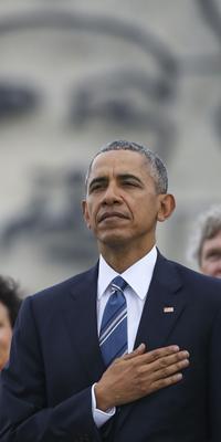 Barack Obama devant une figure du «Che».
