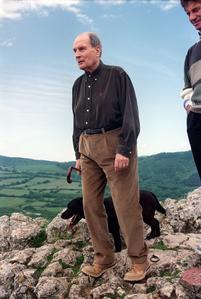 François Mitterrand à la Roche de Solutré, le 22 mai 1994.