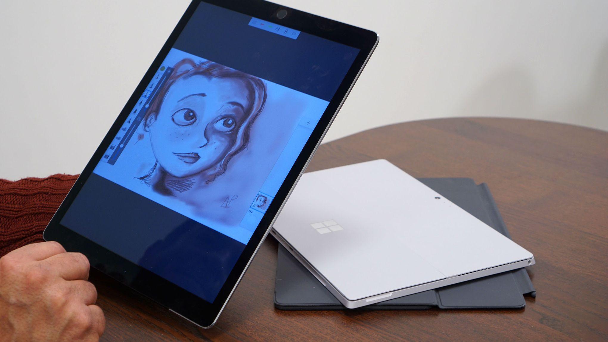 surface pro 4 ou ipad pro quelle est la meilleure tablette. Black Bedroom Furniture Sets. Home Design Ideas