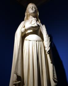 Statue de Sainte-Barbe, Pierre Rouillard (1896-1990).