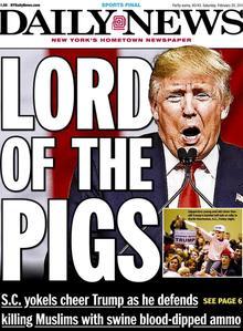 La une du Daily News du 20 février 2016.