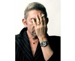 Serge Gainsbourg (en 1988) ne se séparait pas de sa Breitling Navitimer.