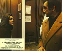 Françoise Fabian et Lino Ventura dans «La Bonne Année» de Claude Lelouch en 1973.