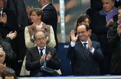 François Hollande et Noël Le Graët au Stade de France.