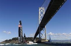 Le catamaran de 72 pieds de l'équipe américaine Oracle, vainqueur de l'America Cup 2013 en baie de San Francisco.