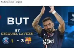 Ezequiel Lavezzi n'a pas inscrit de but face à Barcelone. Le PSG s'est fait piéfer par l'annonce du speaker du Parc des Princes.