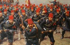 La bataille de Domokos, par le peintre Fausto Zonaro (détail).