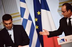Alexis Tsipras, le premier ministre grec, avec François Hollande, en février dernier à l'Élysée, à Paris.