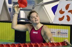 Mélanie Hénique lors des Championnats de France petit bassin en 2014.